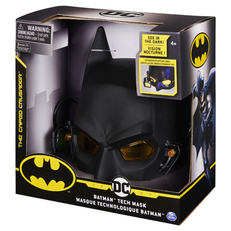 Batman Role-Play Tech Mask with Lights and Magnification Lens