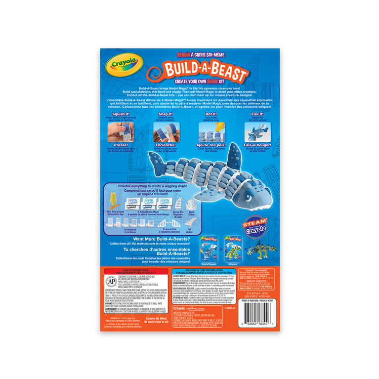 Crayola Build-A-Beast Craft Kit Shark