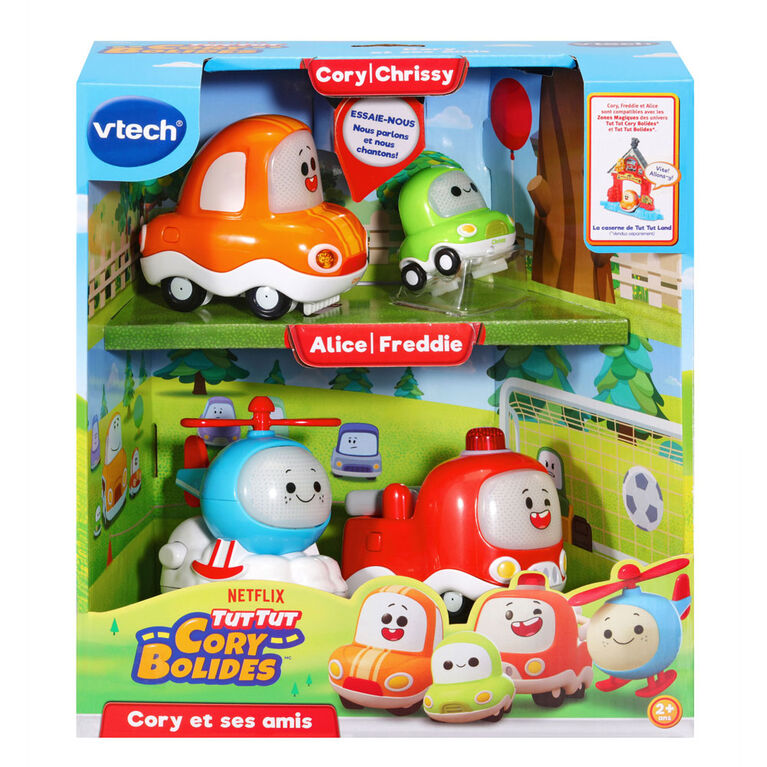 VTech Tut Tut Cory Bolides Zone Magique Cory, Friends & Bonus Chrissy - R Exclusive - French Version