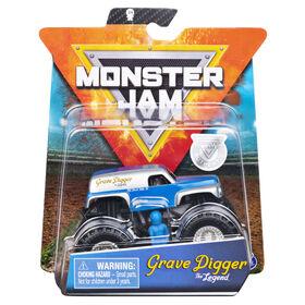 Monster Jam, Official Grave Digger Monster Truck, Die-Cast Vehicle, Retro Rebels Series, 1:64 Scale