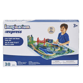 Imaginarium Express - 2-in-1 Rail and Road Train Set - R Exclusive