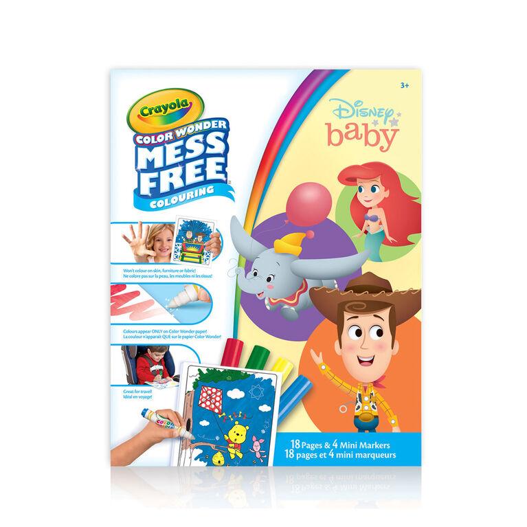 Pages et mini marqueurs Crayola Color Wonder sans dégâts Disney Baby