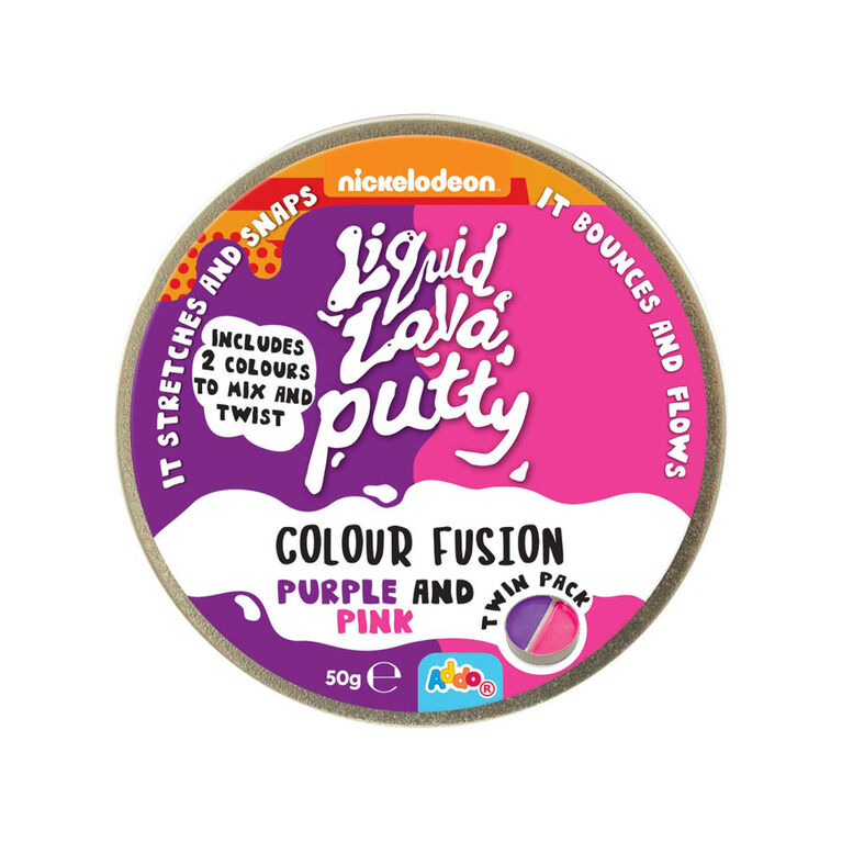 Nickelodeon Liquid Lava Putty Colour Fusion Purple and Pink - Notre exclusivité