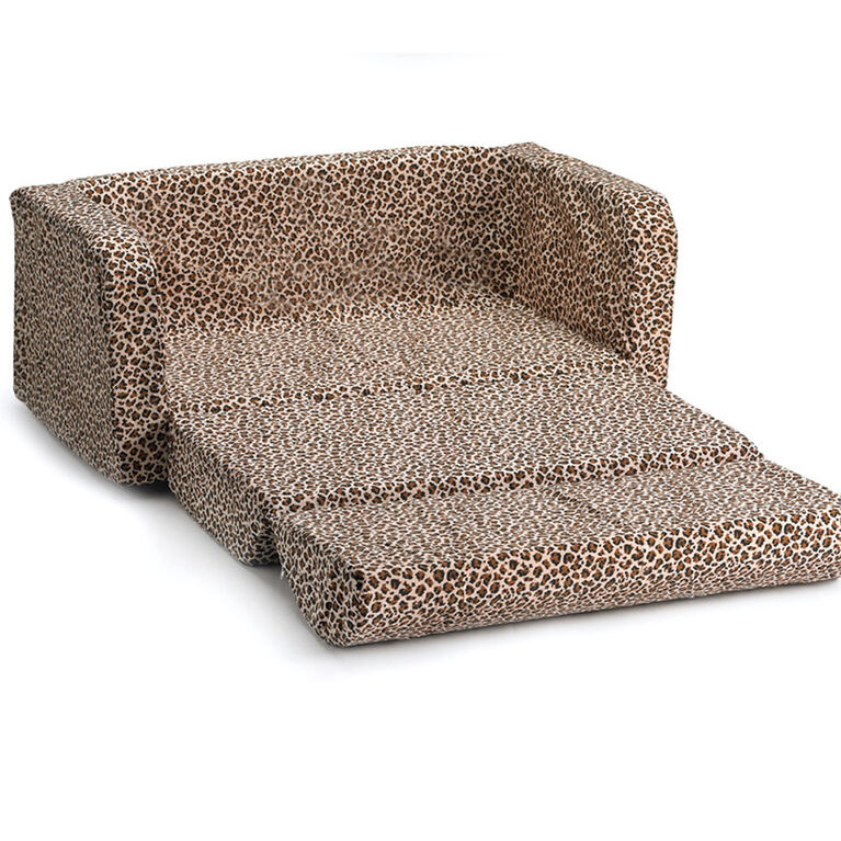 Comfy Kids Flip Sofa - Cheetah