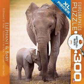 Eurographics Elephant & Baby Oversize 300 Piece Puzzle