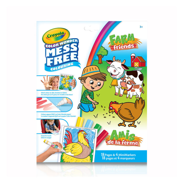 Crayola Mess-Free Color Wonder Pages & Mini Markers, On The Farm