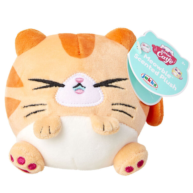 Kitten Catfe Meowble Scented Plush - Orange Tabby