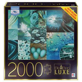Big Ben Luxe 2000-Piece Adult Jigsaw Puzzle, Teals