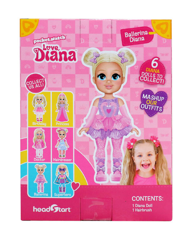 "Love, Diana - 6"" Ballerina Diana Doll - English Edition"