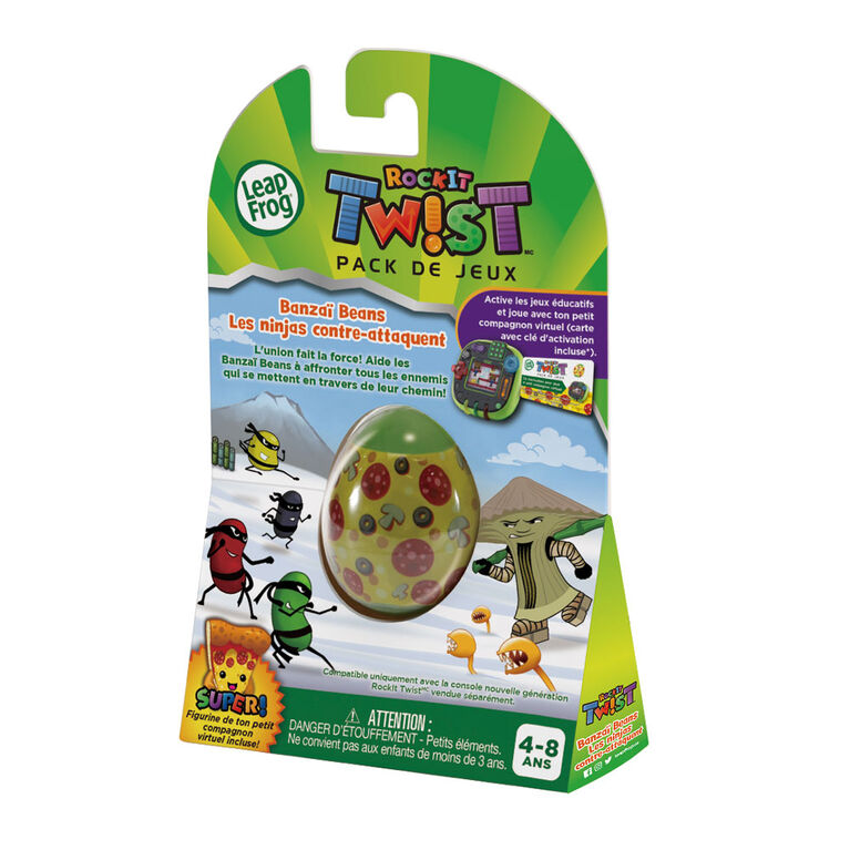 LeapFrog RockIt Twist Game Pack Banzai Beans Showdown - French Edition