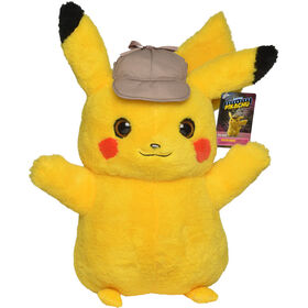 "Detective Pikachu 16"" Real Scale Plush - R Exclusive"