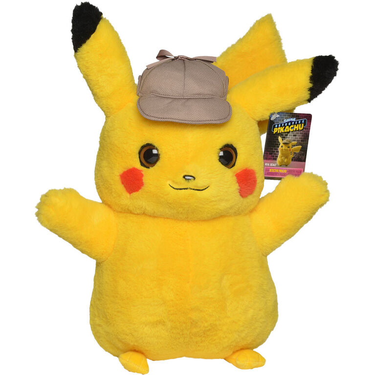 Detective Pikachu 16 Real Scale Plush R Exclusive Toys R Us
