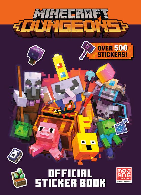 Minecraft Official Dungeons Sticker Book (Minecraft) - Édition anglaise