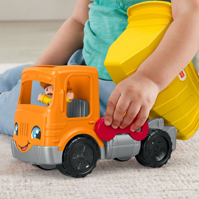 Fisher-Price - Little People - Camion à benne Travail en equipe - Édition anglaise