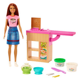 Barbie - Poupée et coffret de jeu - Machine à nouilles