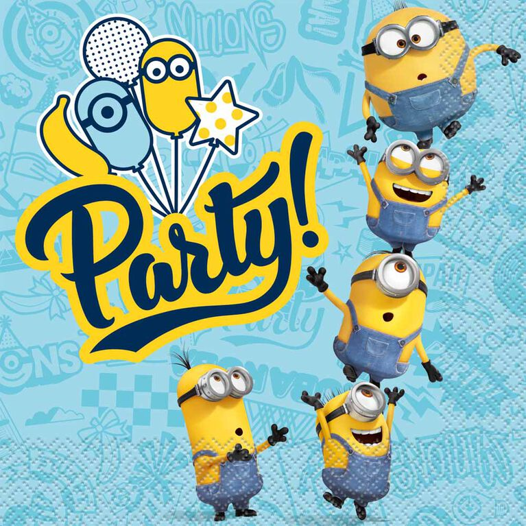 Minions Luncheon Napkins, 16 pieces