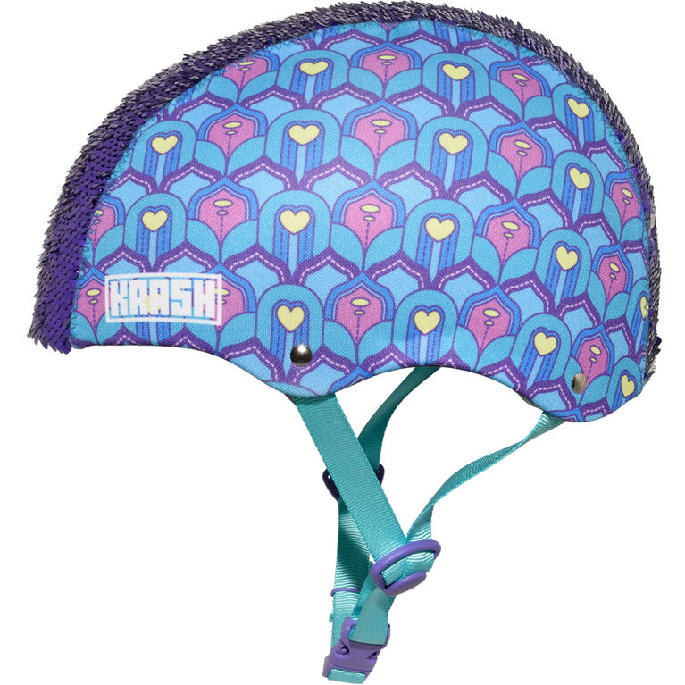 Krash - Youth Feather Flip Multisport Helmet - Blue/Purple (Fits head sizes 54 - 58 cm)