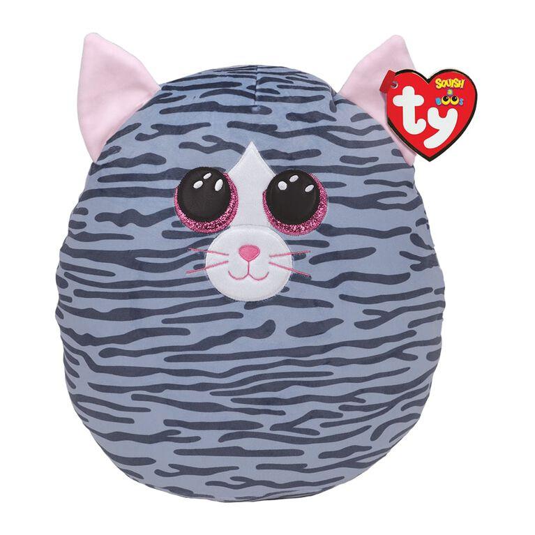 Ty Squish Kiki Grey Striped Cat 10 inch