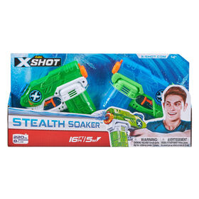 X-Shot Water Warfare Double Stealth Soakers Small Water Blaster Value Pack