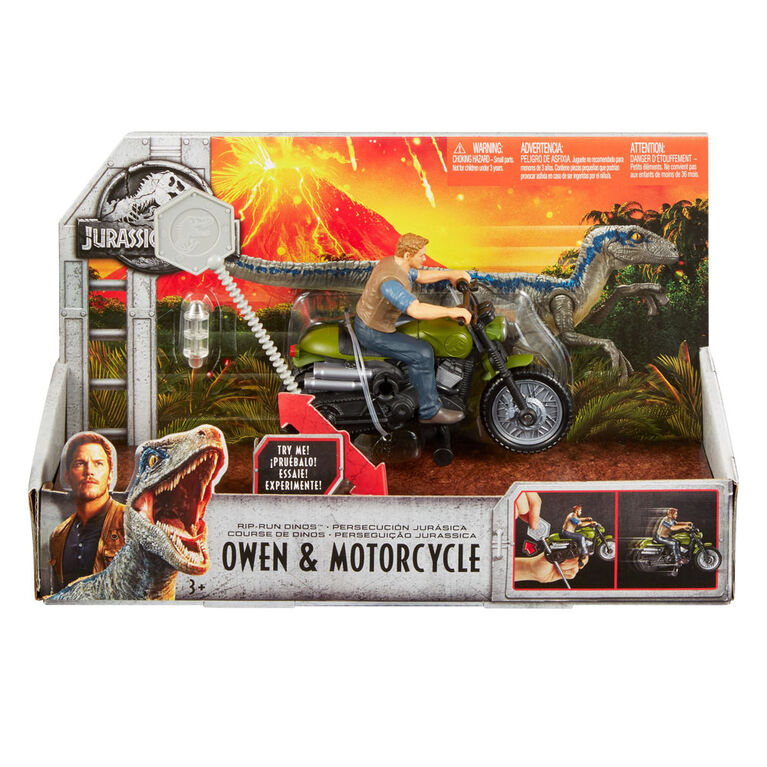 Jurassic World - Course de Dinos - Owen et Moto.