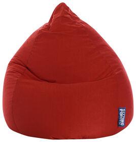 Gouchee Design - Beanbag Easy Fauteuil Poire Microfibre XL - Rouge