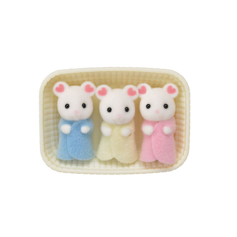 Calico Critters - Marshmallow Mouse Triplets