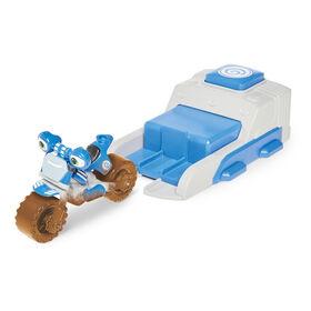 Collection de jouets Launch & Go Ricky Zoom incluant une Figurine de luxe Loop Hoopla  - Figurine 3po - Jouet Motocyclette et Speed Launcher avec les Roues libres, se tient débout - Notre exclusivité