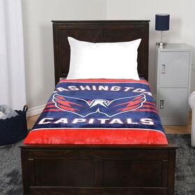 NHL Luxury Velour Blanket - Washington Capitals