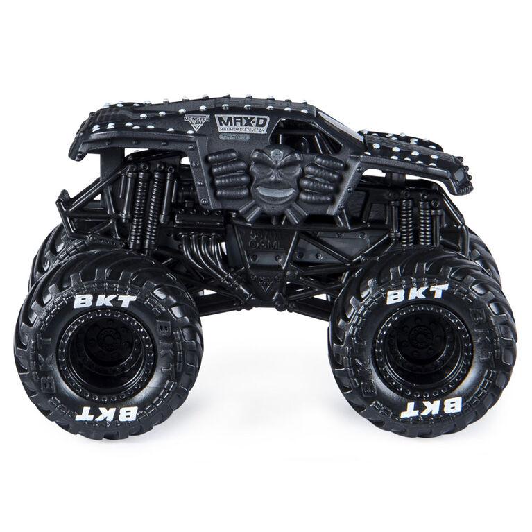 Monster Jam, Monster truck Max D officiel, véhicule en métal moulé, série World Finals, échelle 1:64
