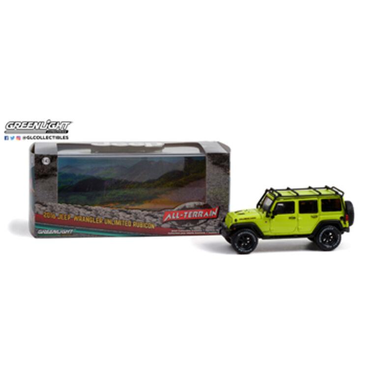 1:43 2016 Jeep Wrangler Unlimited Rubicon Hard Rock (Off-Road) - Hyper Green