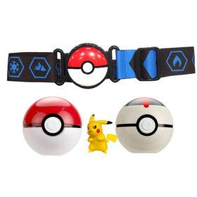"Pokémon - Clip N Go Belt - 2"" Pikachu #2, Pokeball Belt Set"