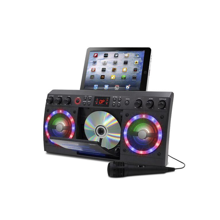 iKARAOKE Bluetooth CD+G Karaoke System, Black