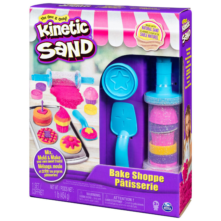 Kinetic Sand, Bake Shoppe Playset with 1lb of Kinetic Sand and 16 Tools and Molds