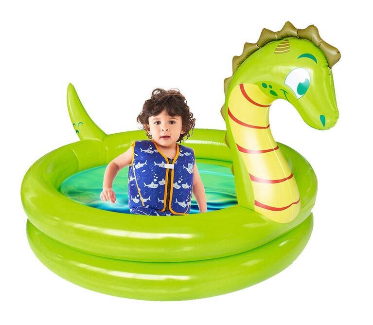 Splash buddies - Piscine gonflable portative dinosaure pour enfants