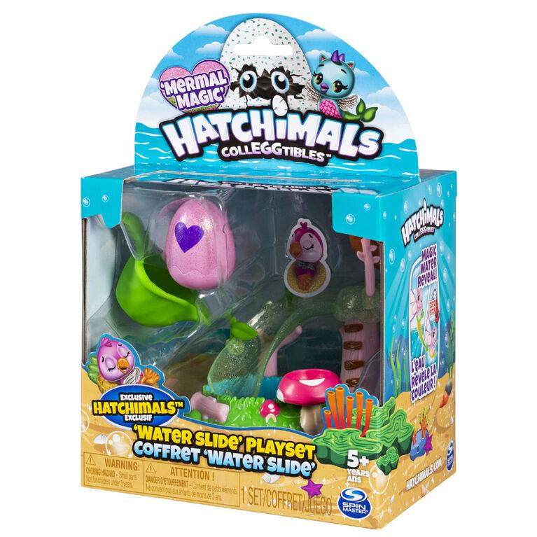 Hatchimals CollEGGtibles, Water Slide Playset with Exclusive Mermal Magic Hatchimals CollEGGtible