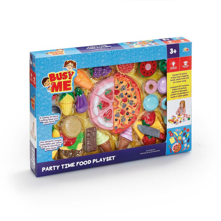 Busy Me - Coffret Slice & Play Party Time Food - Notre exclusivité