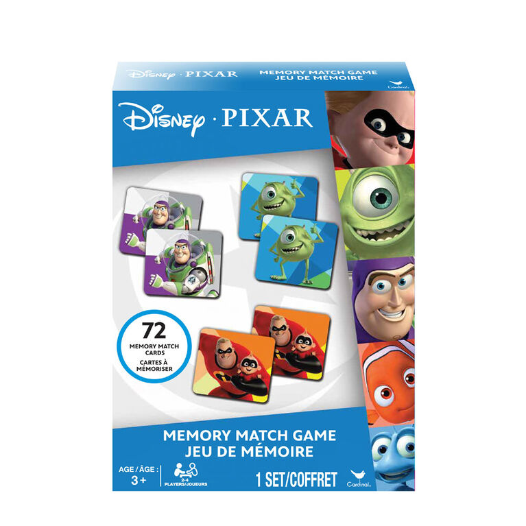 Disney Pixar Memory Match Game - Incredibles, Toy Story, Monsters Inc, Finding Dory