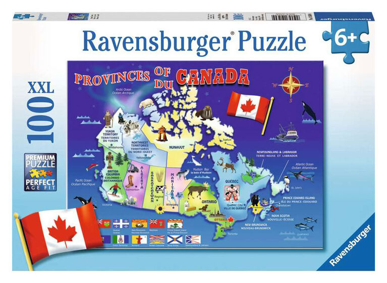 Ravensburger - Map of Canada Puzzle 100pc