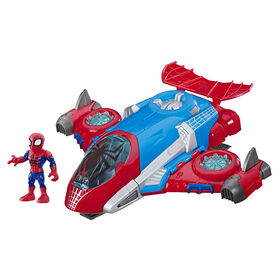 Playskool Heroes Marvel Super Hero Adventures Spider-Man Jet Quarters