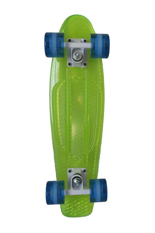 Sport Runner 225 skateboard transparent - vert - Notre exclusivité