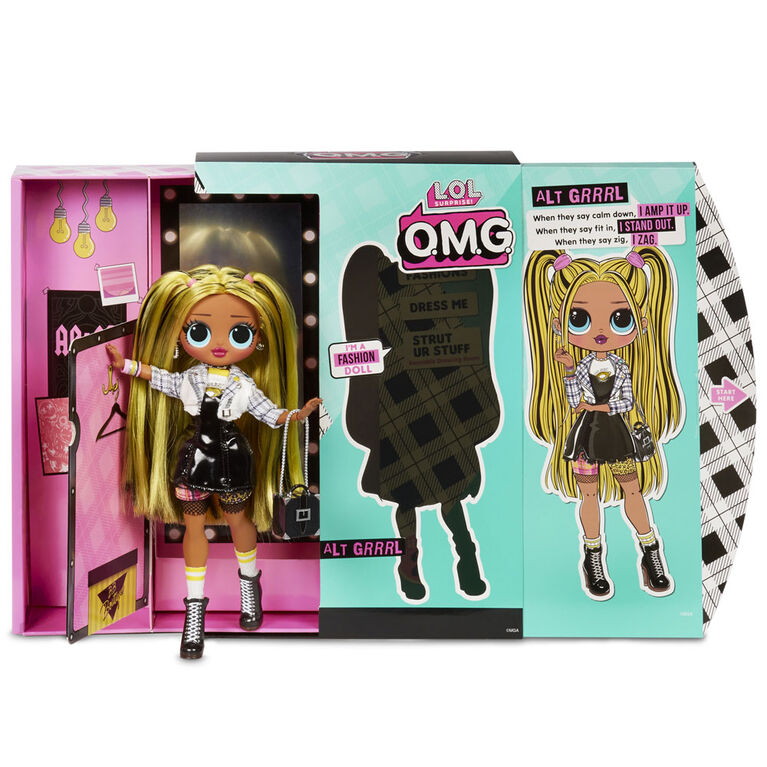 L.O.L. Surprise! O.M.G. Alt Grrrl Fashion Doll with 20 Surprises
