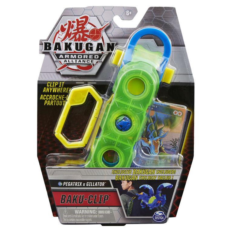Bakugan, Baku-Clip Storage Accessory with Exclusive Fused Pegatrix x Gillator Bakugan - R Exclusive