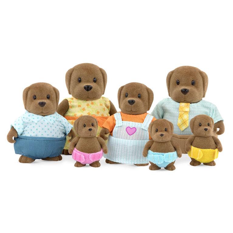Wagadoodle Chiens, Woodzeez, Ensemble de petites figurines de chiens