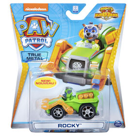 PAW Patrol - True Metal Mighty Rocky Super PAWs Collectible Die-Cast Vehicle - Mighty Series 1:55 Scale