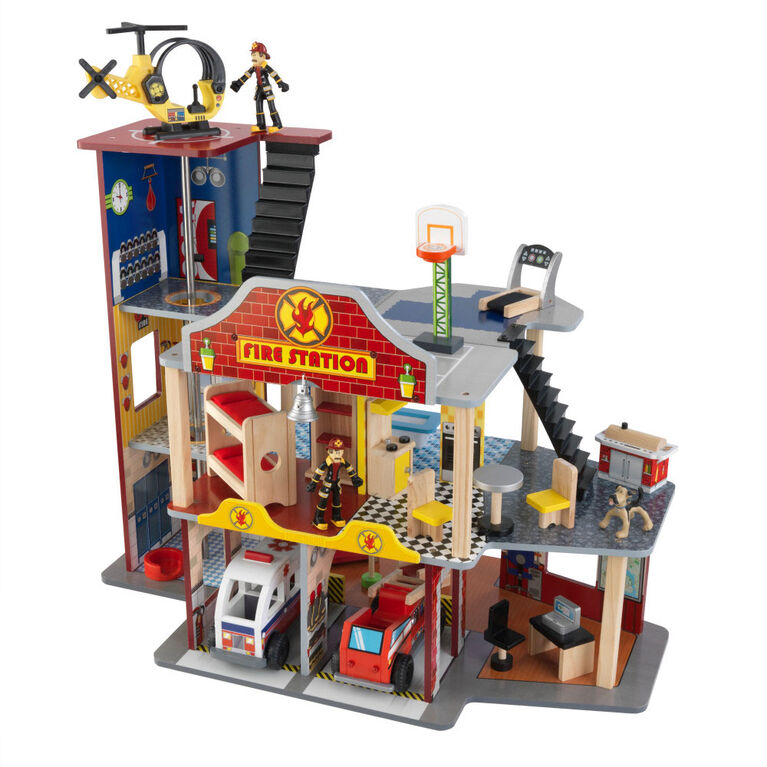 KidKraft - Ensemble caserne de pompiers Deluxe