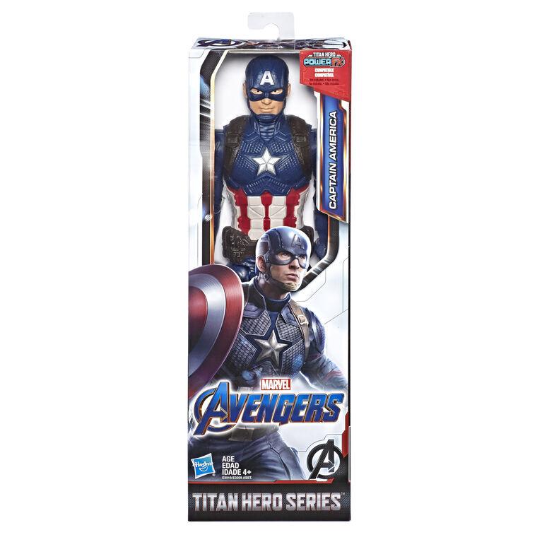 Marvel Avengers: Endgame Titan Hero Series Captain America Action Figure with Titan Hero Power FX Port