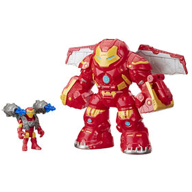 Playskool Heroes Marvel Super Hero Adventures Mega Mighties - Figurines Iron Man et Hulkbuster avec blaster