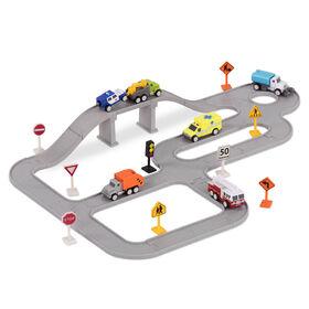 Driven, Safe & Clean City Crew, City Set with Miniature Vehicles