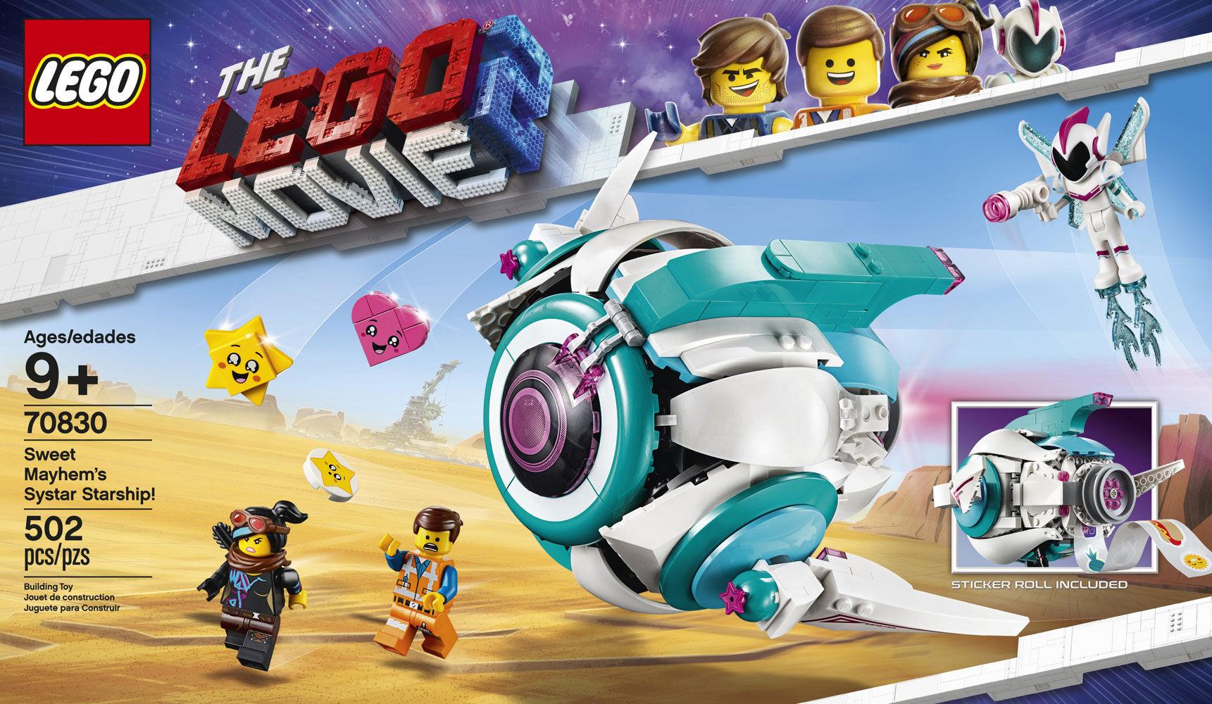~NEW /& Unopened~ Lego Movie 2  70830 Sweet Mayhem/'s Systar Starship