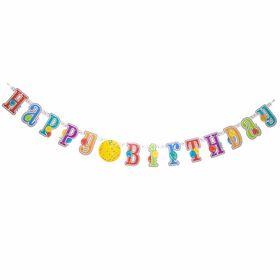 Banniere Avec Auto Collants - Happy Birthday - Édition anglaise